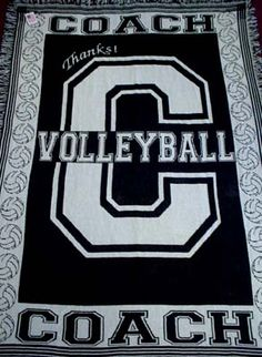 Exclusive Oversize Throw Sign the Afghan in the C with a permanent marker to make a special Coach's gift! Made in the USA Two-layer top grade heavy-duty cotton in Black and Natural What a way to say Thanks! Volleyball Outfits, Volleyball Gifts, Coaching Volleyball, Volleyball Ideas, Wrestling Mom, Spirit Gifts, Football Players, Football Moms, Coach Gifts