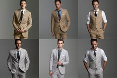 "Read the ""Modern Type"" section. Guys can vary the treatment of the suit - vest / no vest, different colored shirts, jacket / no jacket."