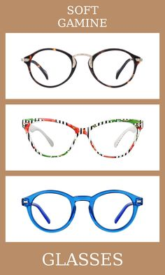 3 Pairs of Glasses for the soft gamine body type, one of thirteen Kibbe body types. Soft gamines have high-energy and contrasted bodies, with slightly more yin than yang. The glasses that suit them the most are unique, patterned, and a mix of feminine and masculine elements. Learn more about the Kibbe body types at cozyrebekah.com