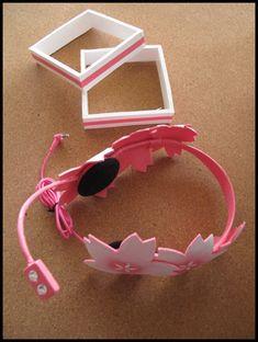 Vocaloid Sakura Miku Headphone Hair Clip Cosplay by FuwaCandy