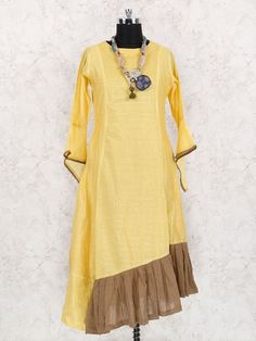 Yellow Color Cotton Fabric Designer Kurti, latest Designer cotton kurti, Designer cotton kurtis, latest cotton kutis, trendy cotton kurtis, shop online cotton kurtis for women, cotton kurtis for party, cotton kurtis for official wear, latest kurtis for women