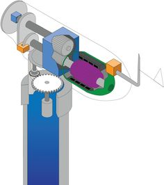 How A Wind Turbine Works: the inner-workings of a wind turbine shown with an inter-active GIF