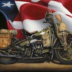 Vintage Harley-War Bike...