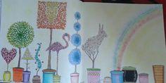 Colorido com lápis aquarela e giz pastel oleoso