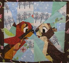 Disney Mystery Quilt, Block 4, The Squirrels by TweLoQ