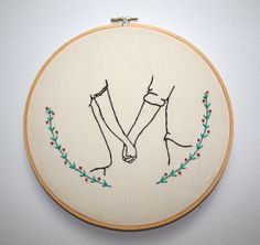 Original Embroidery / You & I by becgroves on Etsy More