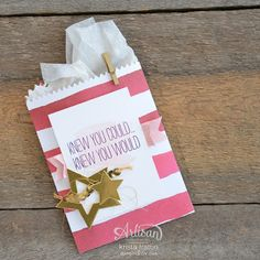 Stampin' Dolce: Striped Treat Bag - TGIF Challenges #TGIFC07