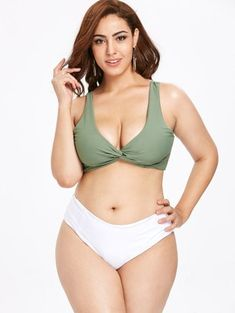 f671257b85 ZAFUL Twisted Plus Size Color Block Bikini Set Kids Fashion, Fashion Art,  Fashion Jewelry