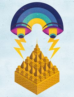 Yorokobu Mag Illustrations II by Velckro , via Behance