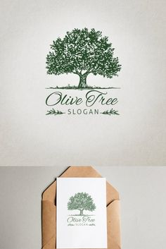 Tree Slogan, Olive Tree, Logo Templates, Background Images, How To Draw Hands, Presentation, Place Card Holders, Notes, Black And White