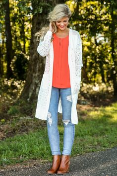 Isn't Knit Lovely Cardigan-White - New Today | The Red Dress Boutique