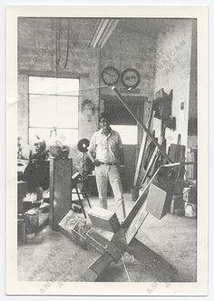 Ken Noland in David Smiths Studio