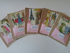 Retro Bridesmaid Handkerchief Napkin Lot Wedding Accessory Keepsake Gift Paris Hanky Card