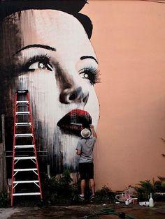 Collection of street art, graffiti & urban art from many street artists. See more on urban artist Mr Pilgrim's buy art online site. 3d Street Art, Amazing Street Art, Street Art Graffiti, Street Artists, Amazing Art, Awesome, Street Mural, Wall Street, Banksy