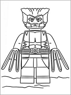 Lego Wolverine Coloring Pages Printable And Book To Print For Free Find More Online Kids Adults Of