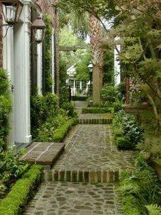 Private Garden, Charleston- everyone has a great garden there Love Garden, Dream Garden, Outdoor Rooms, Outdoor Gardens, Side Gardens, Amazing Gardens, Beautiful Gardens, Charleston Gardens, Charleston Style