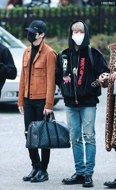 cool Suga and Jimin ❤ BTS Arrival at Music Bank #BTS #방탄소년단...