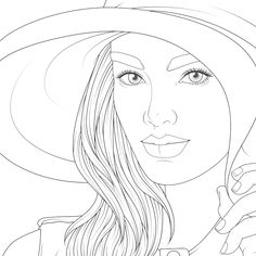 Coloring Book Pages, Coloring Sheets, Barbie Coloring, Basic Drawing, Drawing People, Cool Drawings, Art Sketches, Art Lessons, Portrait