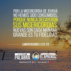 #SabíasQue... ¡Si hoy estamos vivos, es por Su bendita misericordia! #ViveLaPalabra