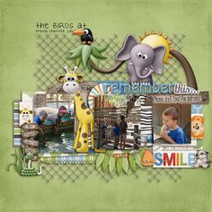 The Birds visited the zoo with some of their cousins.  They even had time for a break.  Jacob really enjoyed that part!!  He had fun taking a close-up look at the giraffe!   I used Grunt, Roar & Snort Collection by Digilicious Design found here:  http://www.sweetshoppedesigns.com/sweetshoppe/product.php?productid=28272&cat=0&page=4