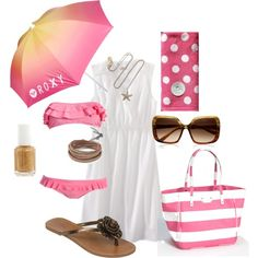 Day at the beach, created by bbs25 on Polyvore