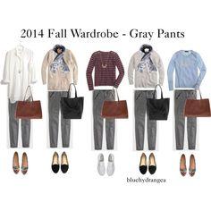 """Fall Wardrobe - Gray Pants"" by bluehydrangea on Polyvore"