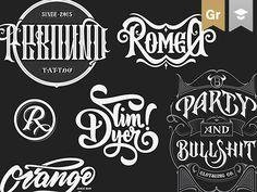 """다음 @Behance 프로젝트 확인: """"Hand-lettered logotypes"""" https://www.behance.net/gallery/33131999/Hand-lettered-logotypes"""