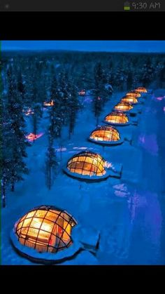 Igloo rentals in Finland....Nice