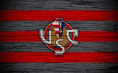 Download wallpapers US Cremonese, Serie B, 4k, football, wooden texture, red black lines, italian football club, Cremonese FC, logo, emblem, Cremona, Italy