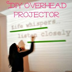 DIY your own overhead projector!! Cool via @cleverlyinspired Because every #homeschool might still need an overhead projector.