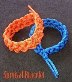 Free Crochet Pattern - Survival Bracelet. These survival bracelets are crocheted using paracord, which means you can actually unwrap them if you find yourself in an emergency situation. Paracord bracelets can be used as a tourniquet, splint, shoelaces, belts, and fishing line. Paracod can even be used to help make a fire.