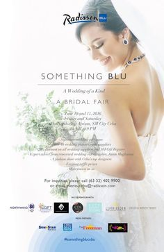 Catch Radisson Blu Cebu's Something Blu: A Wedding of a Kind this June 10 to 11 at SM City Cebu Northwing Atrium from 10AM to 9PM.  Enjoy exclusive deals from over 40 top wedding suppliers and the SM Gift Registry. On June 10, meet celebrated videographer Jason Magbanua followed by a bridal fashion show.
