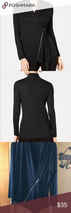 a4098b1819ad BRAND NEW! Alfani Asymmetrical zippier Sweater BRAND NEW! Alfani  Asymmetrical zippier Sweater. Super