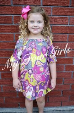Girls Fall Dress Paisley Dress Tween Dress by MyFourGirlsGifts