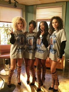 Star Fox Tv Show, Star Cast Fox, Tv Show Outfits, Boujee Outfits, Lee Daniels Star, Star Tv Series, Positive Songs, Dark Skin Models, Star Clothing