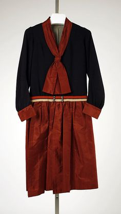 re:pin BKLYN contessa :: Ensemble: Dress, House of Worth 1927, French, Made of silk, cotton, and wool