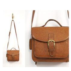 vintage brown leather boxy handbag ($20-50) - Svpply