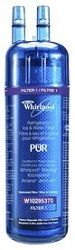 Whirlpool PUR Adv'd Fridge Filter W10295370/FILTER1 - 2-Pack - The Whirlpool W10295370 2-pack Premium Push Button refrigerator water filter compares to the 10295370 and is a compact, translucent cartridge that provides high quality water filtration. The W10295370 filter reduces 8 different contaminants from drinking water while retaining beneficial Fluoride... - http://ehowsuperstore.com/bestbrandsales/appliances/whirlpool-pur-advd-fridge-filter-w10295370filter1-2-pack