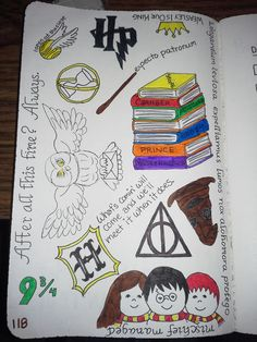 Wreck This Journal - My Harry Potter fangirl page.