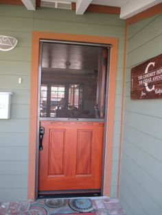 Dutch Door Pull Down Stowaway Retractable Screen The Has 2 Stopping Points As Requested