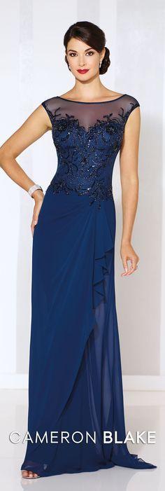 Cameron Blake Spring 2016 - Style No. 116652 #formaleveningdresses  Elizabeth Earrings www.davidtuteraembellish.com