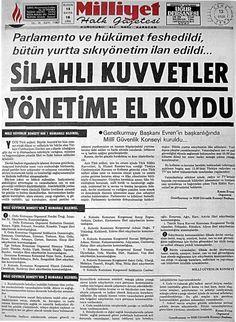 ''Silahlı Kuvvetler Yönetime El Koydu'' (arşiv: 12 Eylül 1980, Milliyet) #istanlook