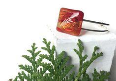 Red/Orange Plant Bracelet, Red Nature bracelet, Red Fused Glass Bracelet, Streaky Red Bracelet, Adjustable Cuff Bracelet, Orange Bracelet by thejeremiahtreeglass. Explore more products on http://thejeremiahtreeglass.etsy.com