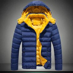 Check it on our site 2017 new Men's Clothing Coats&Jackets  & Parkas winter thickening male with a hood wadded warm jacket thermal coat Dark Blue just only $26.63 with free shipping worldwide  #jacketscoatsformen Plese click on picture to see our special price for you