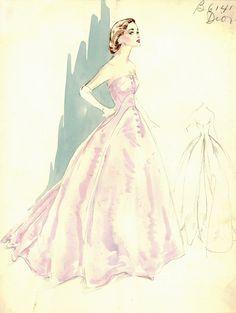 Vintage Dior Sketch More: http://www.pickyc.com/look-ma-i-found-a-goldmine/