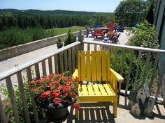 Our terrace is always open for people to come and sit and enjoy the view, have a glass of wine, or use the BBQ and have a picnic. Photo Hosting, Nova Scotia, Outdoor Furniture, Outdoor Decor, Image Sharing, A Boutique, Terrace, Vineyard, Picnic