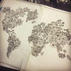 Some of my old tattoo design International flowers world map ❤️❤️❤️❤️ International Flowers, World Map Tattoos, Old Tattoos, Tattoo Designs, Tattoo Ideas, Tattoo Studio, Pencil Drawings, Tattoo Typography, Rose