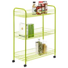 Green is the perfect springtime color, bring it to your home with our Green 3-Tier Grande Rolling Cart