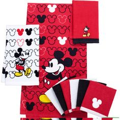 Mickey Bathroom Mouse Shower Curtains Hand Towels Disney Cars
