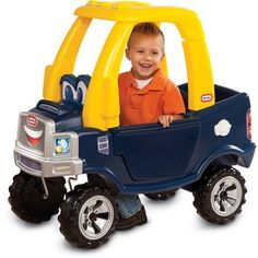 Ride On Toys For 2 Year Olds. A kids truck with the durability of Little Tikes and the fun of our Cozy Coupe. This truck-styled riding toy is ideal for toddlers and preschoolers. The foot-to-floor format is easy to start and stop. Toddler Car, Toddler Preschool, Cozy Coupe Truck, Little Tikes, Kids Ride On, Outdoor Toys, Outdoor Games, Outdoor Fun, Ride On Toys